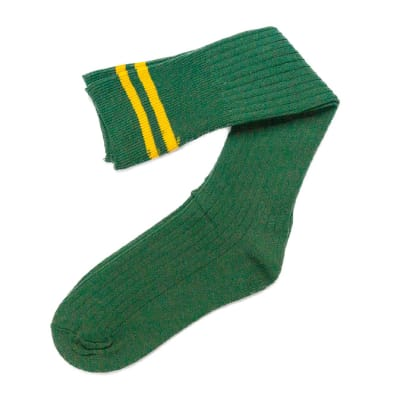 Green with Gold Stripes Stockings image