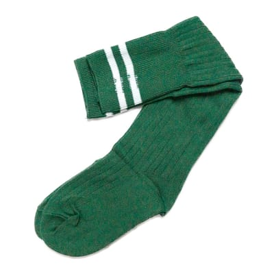 Green with White Stripes Stockings  image