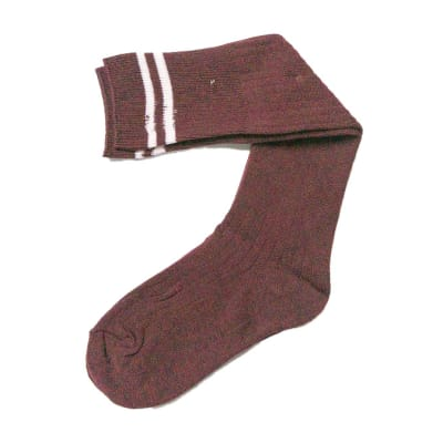 Maroon with White Stripes Stockings  image