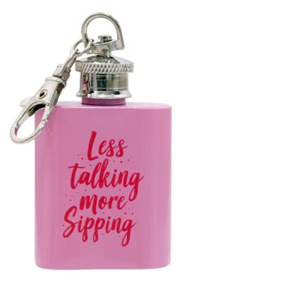 Cocktail Hour Pink Mini Flask  image