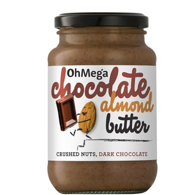 Ohmega Chocolate Almond Butter Crushed Nuts, Dark Chocolate 400g  image