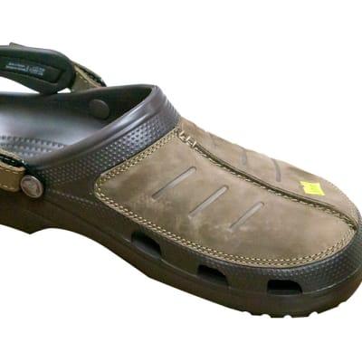 Crocs Men's Classic Clog - Brown top and straps image