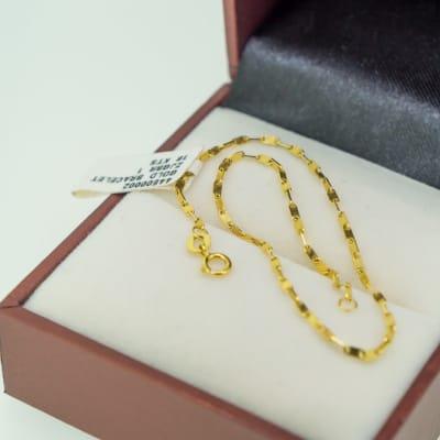 Yellow gold chain bracelet image