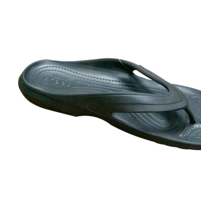 Crocs Unisex Crocband Black Flip Flops and House Slippers image