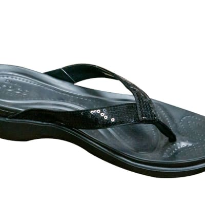 Crocs Ladies Crocband Black Flip Flops and House Slippers image