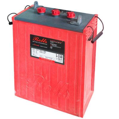 Deep Cycle Flooded Lead Acid Battery Rolls Surrette  S-550 6v 428ah  image