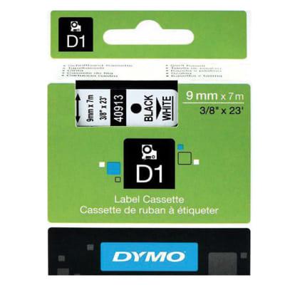 Label Cassette  Dymo D1 9mm Ribbon Black/Yellow image