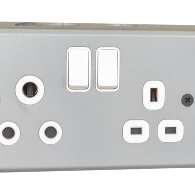 Africab D type Socket & G type Socket with switches image