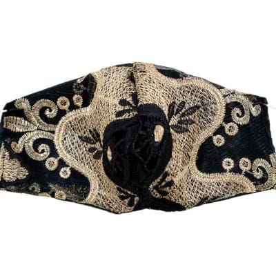 Respirators & Masks  - Decorated reusable face masks - Black gold image