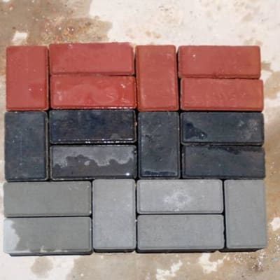 Rectangular brick shaped paver image