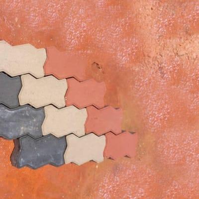 Zigzag brick shaped paver image