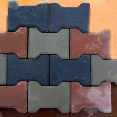 Interlocking rectangular paver image