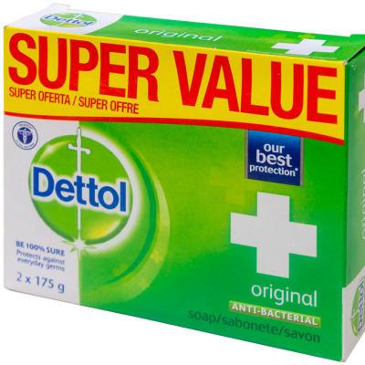 Dettol Anti-bacterial Soap Original 2x175g image