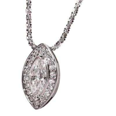 White Gold Diamond  Eye Pendant image