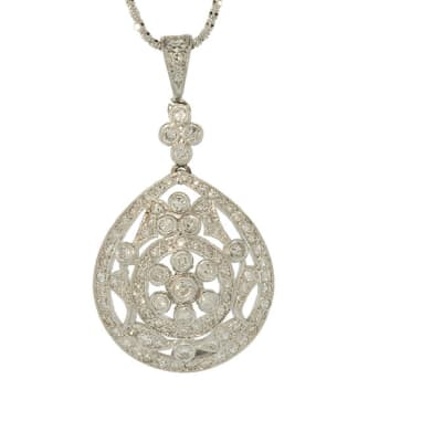 White Gold Diamond  Fancy Pendant image