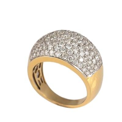 Yellow Gold Diamond  Pave Ring image