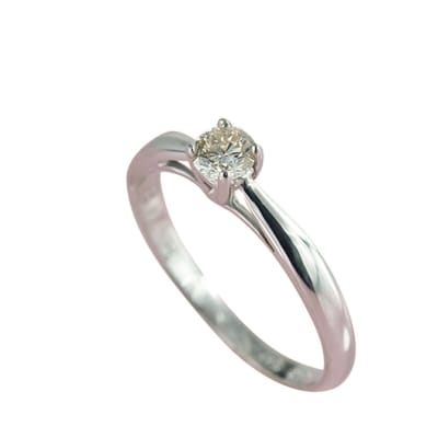 White Gold Diamond  Solitaire Ring image
