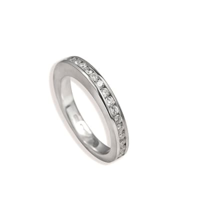 White Gold Diamonds  Channel Ring image