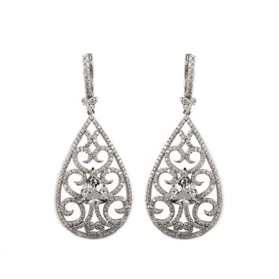 Fancy Earrings  Diamonds White Gold image