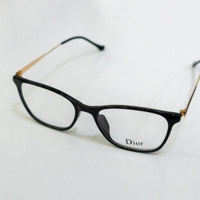 Dior Full Rim Eyeglass Frames - Black & Gold  image