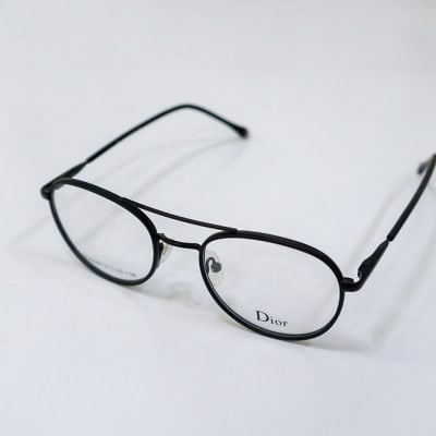 Dior Full Rim Round Eyeglass Frames – Black image