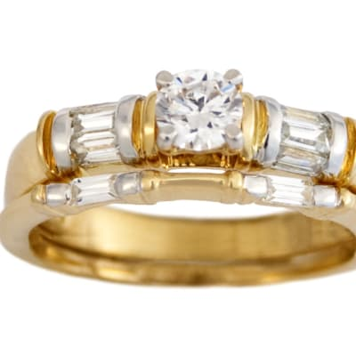 Dou Sides Bridal Set Gold Wedding Ring  image