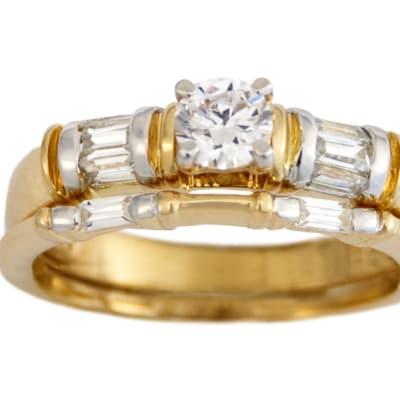 Dou Sides Bridal Set Gold Wedding Ring  image
