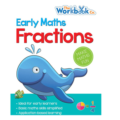 The Workbook Company Early Maths Fractions Practice Workbook for Early Learners  image