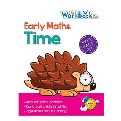 Early Maths Time Practice Work Book  for Pre-School & Early Learners  image