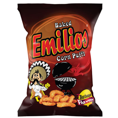 Baked Emilios   Corn Puffs Barbeque 48 X 20g image