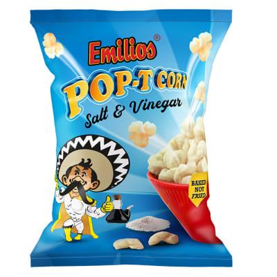 Baked Emilios  Pop-T Corn  Salt & Vinegar 50 X 20g image