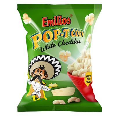 Baked Emilios Pop-T Corn  White Cheese 50 X 20g image