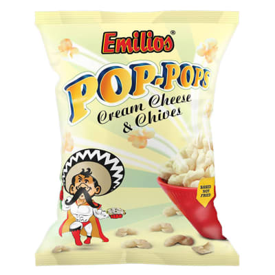 Emilios Pop-Pops - Cream Cheese & Chives 12 x 150g image