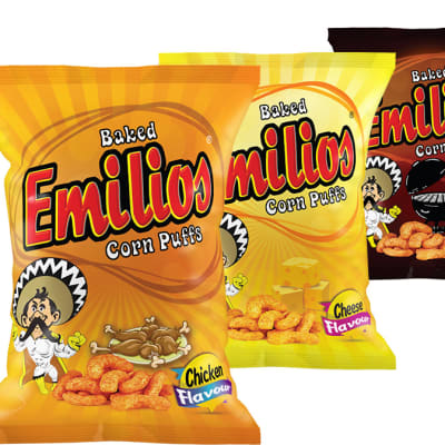 Baked Emilios  Corn Puffs Assorted 50 X 14g   image