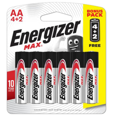 Energizer 4+2 AA Max - Alkaline Batteries 4+2 Pack image