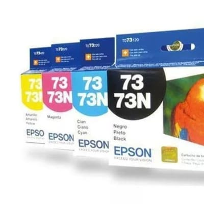 Epson To73  Black and Colour Ink Cartridges image