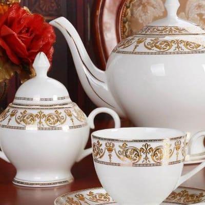 European Coffee Set with British Ceramics, Teapot, Cup, Plate - 10754523846  image