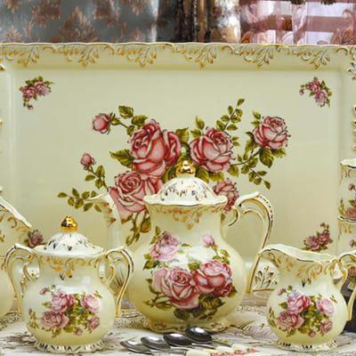 European Coffee cup set tea set ceramic - A004 A image
