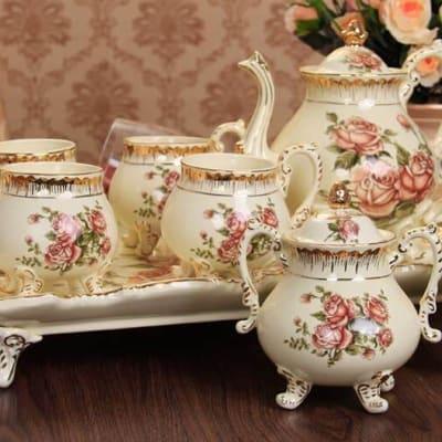 European Coffee cup set tea set ceramic - A004 B image