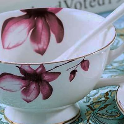 European coffee cup and saucer set - 103601501711 F image
