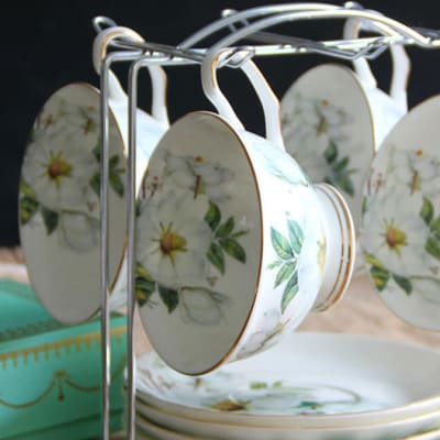 European coffee cup set bone china - 10269291429 C image