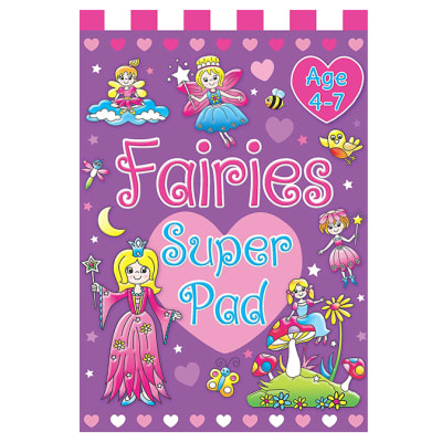 Fairies Super Pad  Ages 4-7 Early Learning Spelling & Reading Activity Book  image