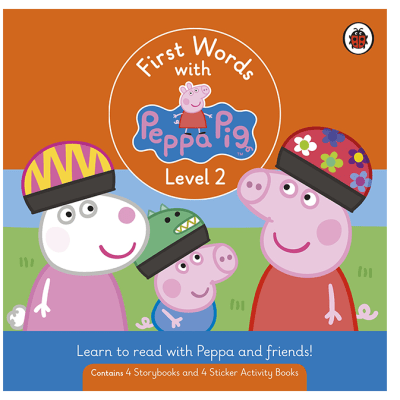 First Words with Peppa  Level 2 Box Set of 8 Books image