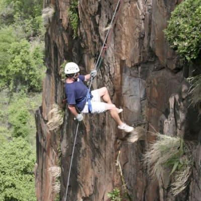 Abseiling Batoka Gorge image