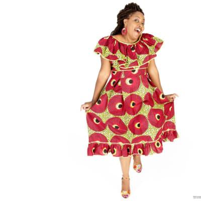Traditional chitenge Zambian dress image