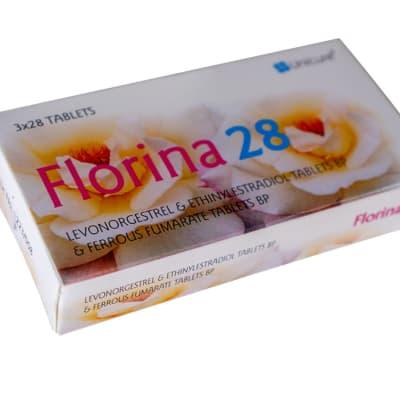 Florina 28 levonorgestrel and ethinyl estradiol contraceptive tablets image