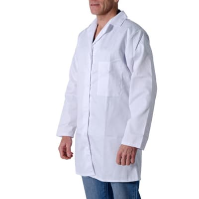 Protective Clothing - Dust Coats Sizes 34-44 - White image