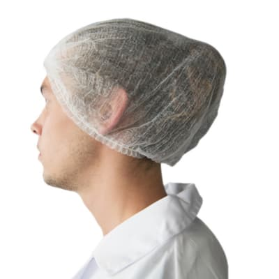 Protective Clothing - Disposable Hair Nets - White image