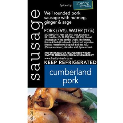 Sausage - Cumberland Pork Label image