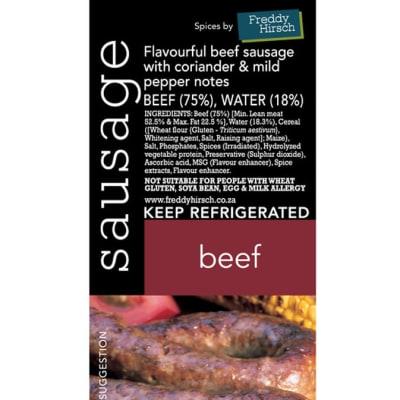 Sausage - Beef Sausage Label image
